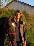 Beate Meyer mit Pferd